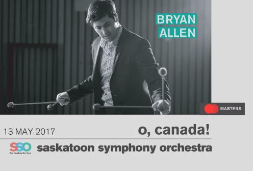 "May 13, 2017 – Bryan Allen (percussionist) and the Saskatoon Symphony presents ""The Shaman"" (Saskatoon, SK)"